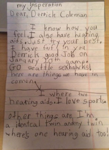 Derrick Coleman Letter 1 (From Young Fan)