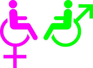 Disabled Male & Female Symbols 1