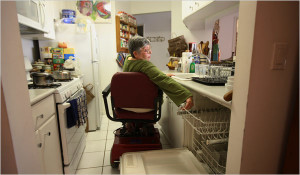 Woman in Wheelchair In the Kitchen 1
