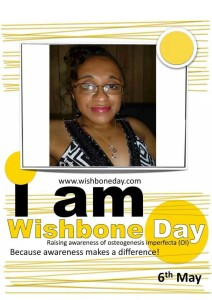 I Am Wishbone Day campaign flyer with Vilissa's image in the center