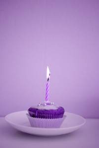 Birthday Cupcake with Candle 1