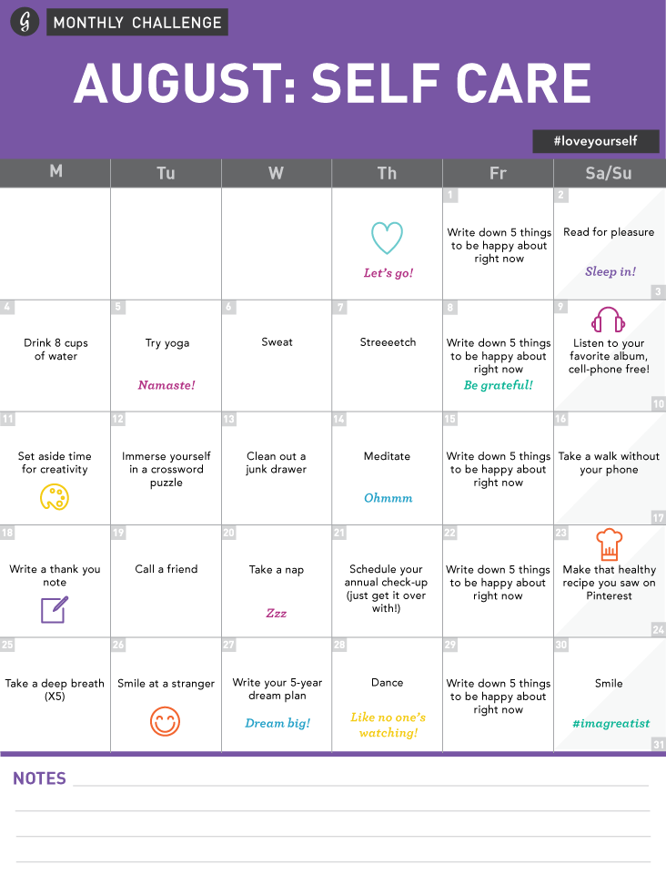 Calendar Challenge : The importance of practicing self care as a disabled