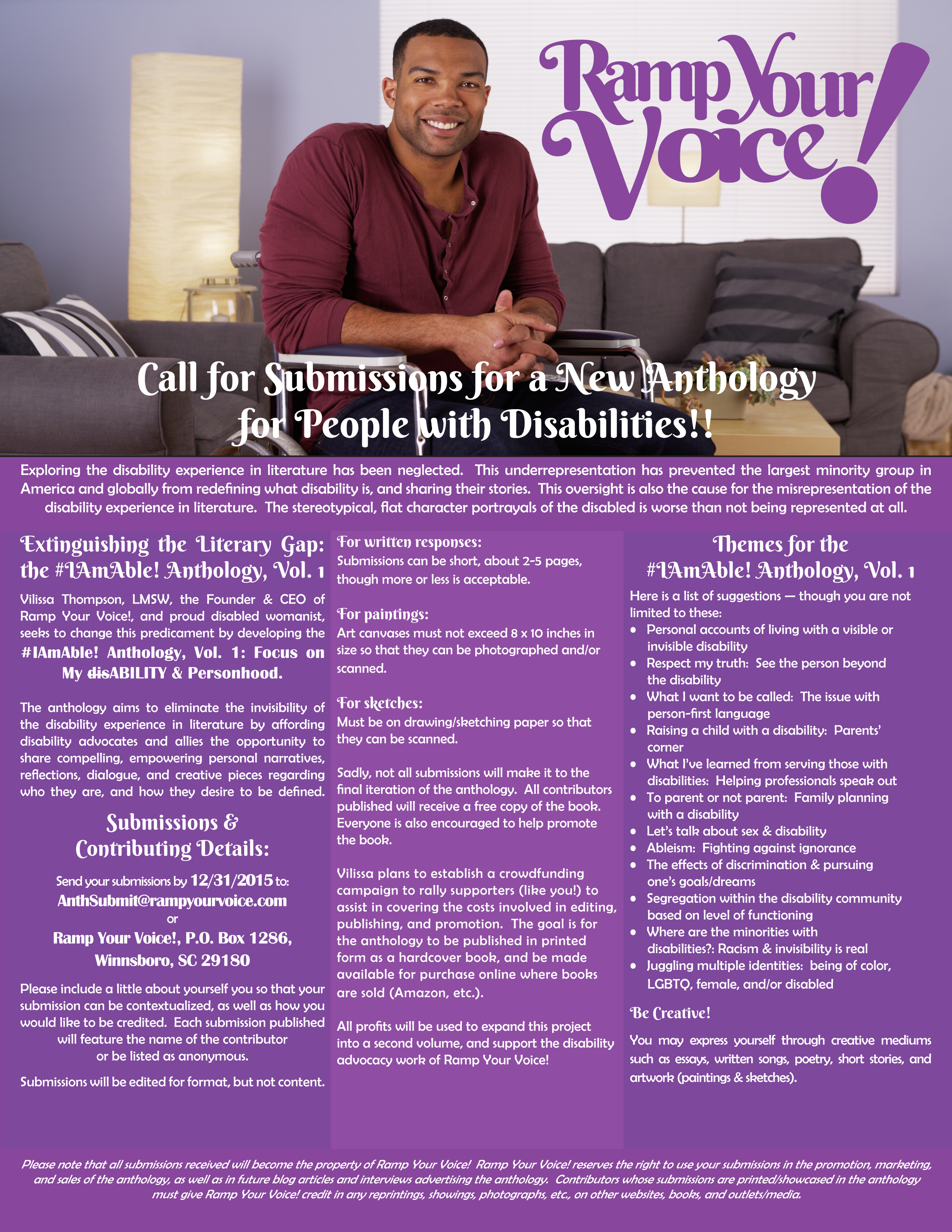 #IAmAble! Anthology - Ramp Your Voice!