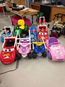 Modified Power Wheels Cars, Mini Fleet 1