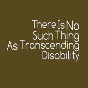 Transcending Disability 1